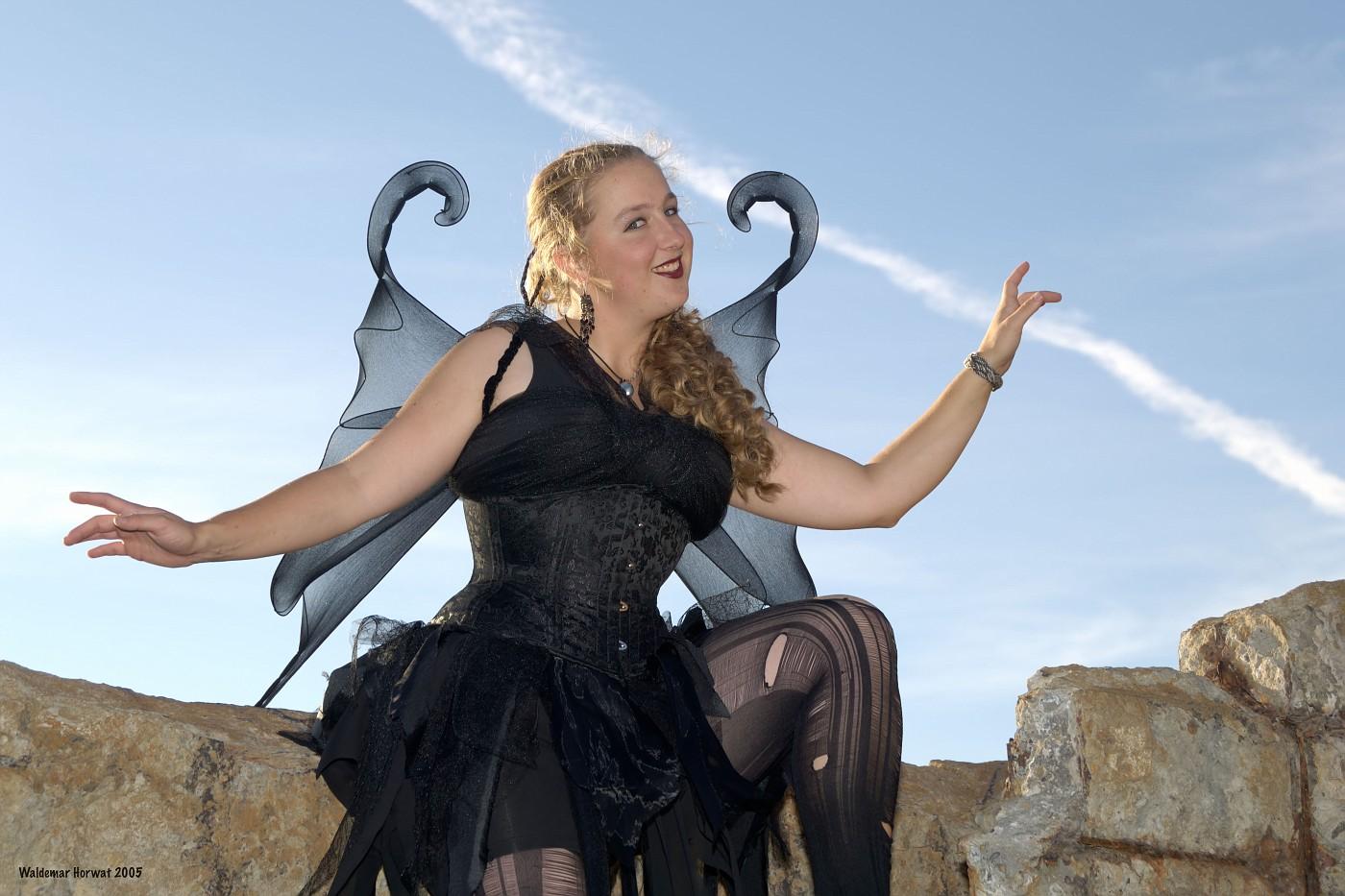 Fairy on Rock Wall