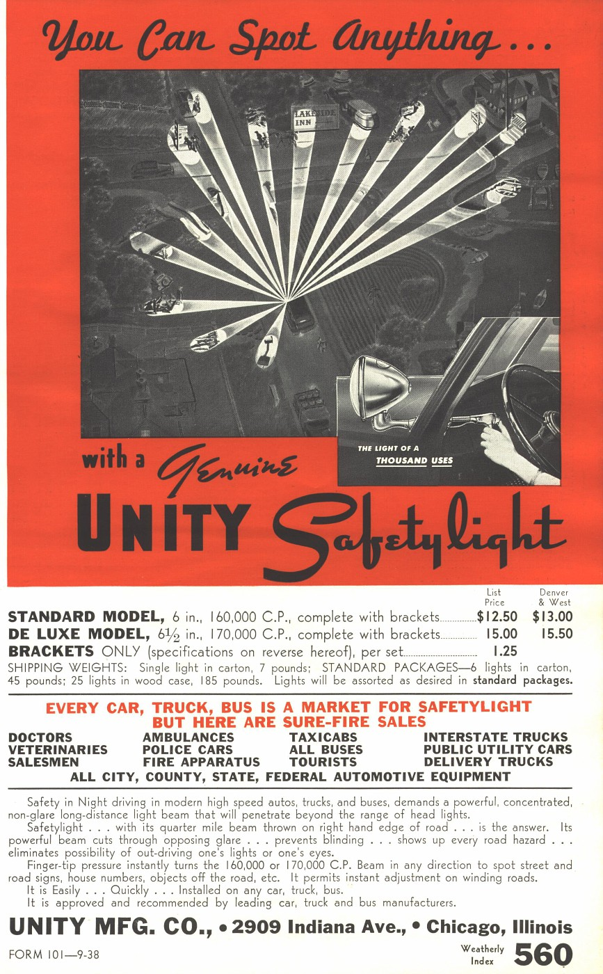 SAFETY LIGHT FLYER PG 1 1938