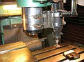 It simply mounts to the milling machine spindle