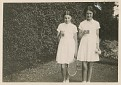 Mom (left) and friend with lemonade