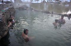 An adjacent hot pool
