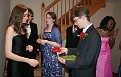 Exchanging prom corsages