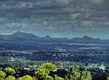 Mt Coot-tha lookout 020 View over Brisbane Mt Barney Mt Maroon & Mt French