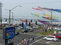 View from the hotel as Sunday's kite festival get's going.