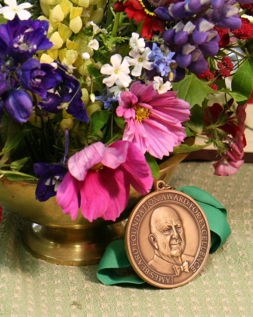 James Beard medallion