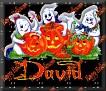 3 Ghosts & pumpkinDavid