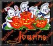 3 Ghosts & pumpkinJoanne