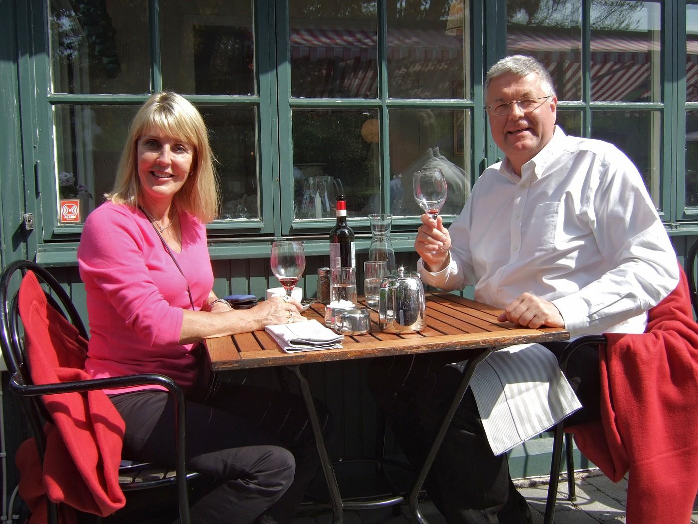 2012 05 20 1 Birgitta in Stockholm with Peter