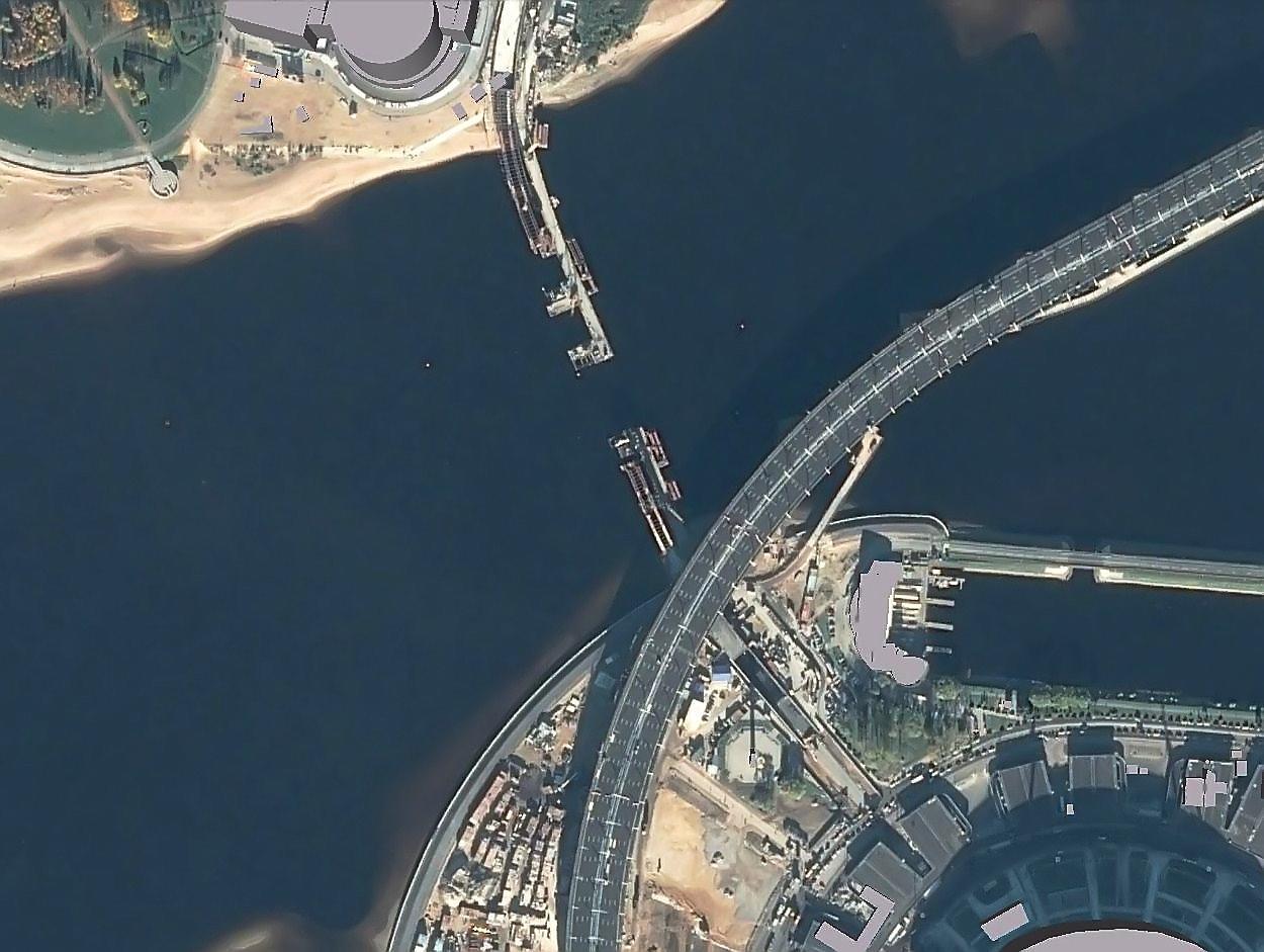 Brücke an der Zenit-Arena in SPb