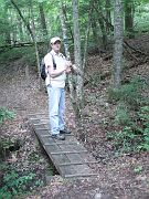 E. Ray Austin, hiking in the Big South Fork.