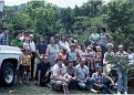 Austin Reunion in the yard at Mom's, in Norma, between 1976-1979