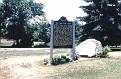 Hawkins Farm & Turkeyville historical marker, Turkeyville, near Marshall, Michigan, Summer 1987