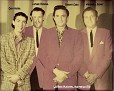 Cary Hobbs, Luther Perkins, Johnny Cash, Marshall Grant. A KDAV photo courtesy of Cary Hobbs.