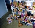 Debra's trolls on a bookcase in guestroom, Summer 1979