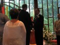 Gordon and Gilles exchanging vows