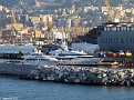 Entering Genoa Harbour