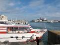 QM2 at Quai de France across Avant Port