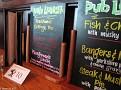 Golden Lion Pub Lunch Menu