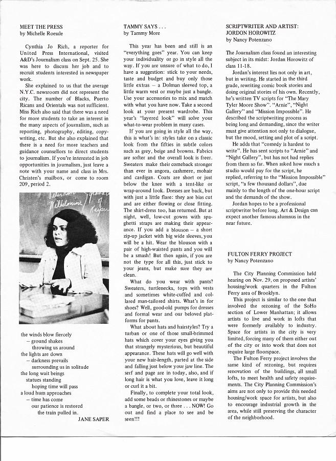 Highlights Newsletter 1974