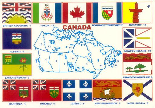 CANADA 02 PROVINCES FLAGS