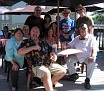 The Gang, on the patio at Rob Roy's, Smiths Falls