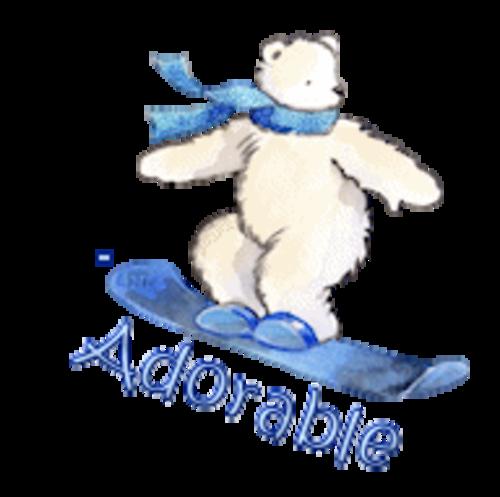 Adorable - SnowboardingPolarBear