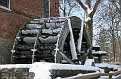 Graue Mill Waterwheel in Winter
