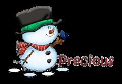 Precious - Snowman&Bird