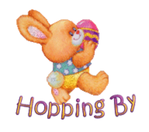 Hopping By - EasterBunnyWithEgg16