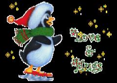 Love & Hugs Skating Penguin