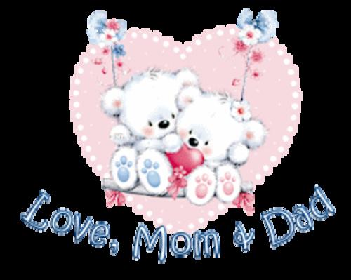 Love, Mom & Dad - ValentineBearsCouple