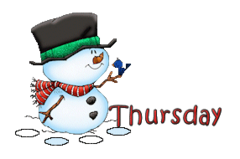 DOTW Thursday - Snowman&Bird
