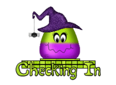 Checking In - CandyCornWitch