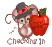 Checking In - ThanksgivingMouse
