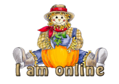 I am online - AutumnScarecrowSitting