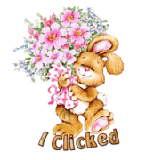 I Clicked - BunnyWithFlowers