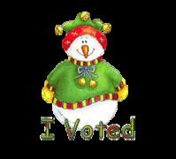 I Voted - ChristmasJugler