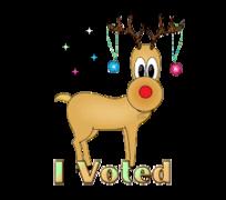 I Voted - ChristmasReindeer