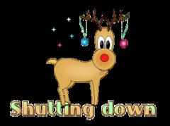 Shutting down - ChristmasReindeer