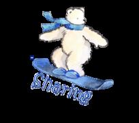 Sharing - SnowboardingPolarBear