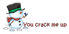 You crack me up - Snowman&Bird