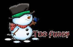 Too funny - Snowman&Bird