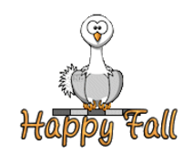 Happy Fall - OstrichWithBlinkie