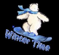 Winter Time - SnowboardingPolarBear
