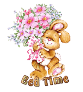 Bed Time - BunnyWithFlowers