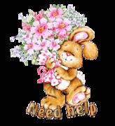 Need help - BunnyWithFlowers