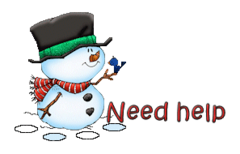 Need help - Snowman&Bird