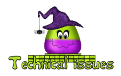 Technical issues - CandyCornWitch