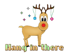 Hang in there - ChristmasReindeer