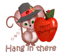 Hang in there - ThanksgivingMouse